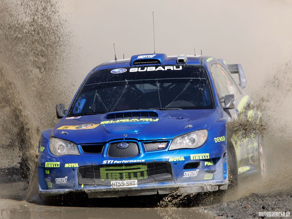 Subaru impreza sti is looking a little to clean time to hit that mud hole