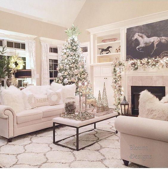 Winter Living Room Decorating: Christmas Living Room Decor. Christmas Living Room Decor
