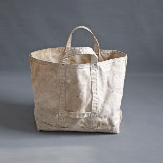 Vintage Heavy Duty Canvas work bag Tote lineman bag (2) | bags ...