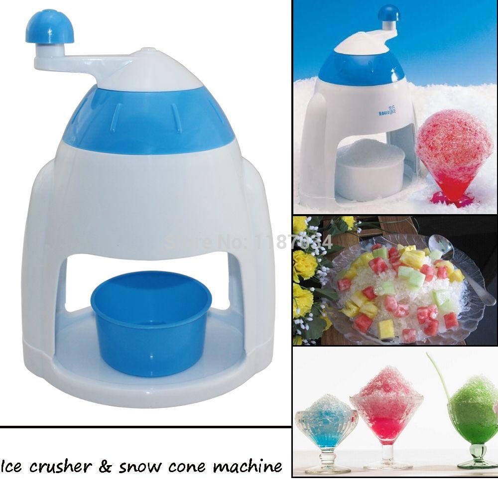 mini portable home use manual ice crusher and snow cone machine - Sno Cone Machine