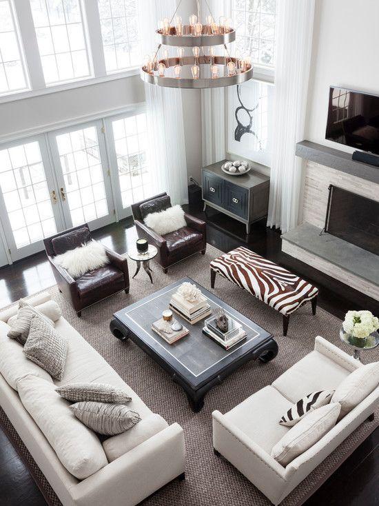 Large Family Room Ideas Part - 42: Sofas And Chair Placement Ideas De Decoracion Elegante Para Tu Hogar