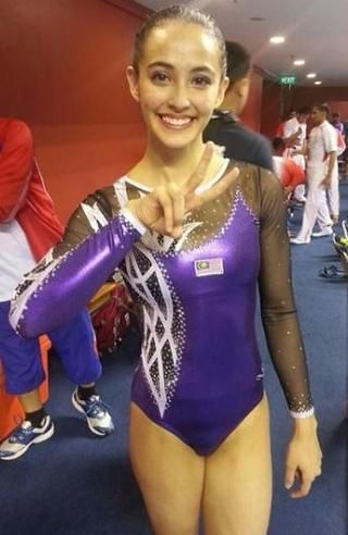 A victorious Farah Ann Abdul Rahman after one of her gold-medal performances