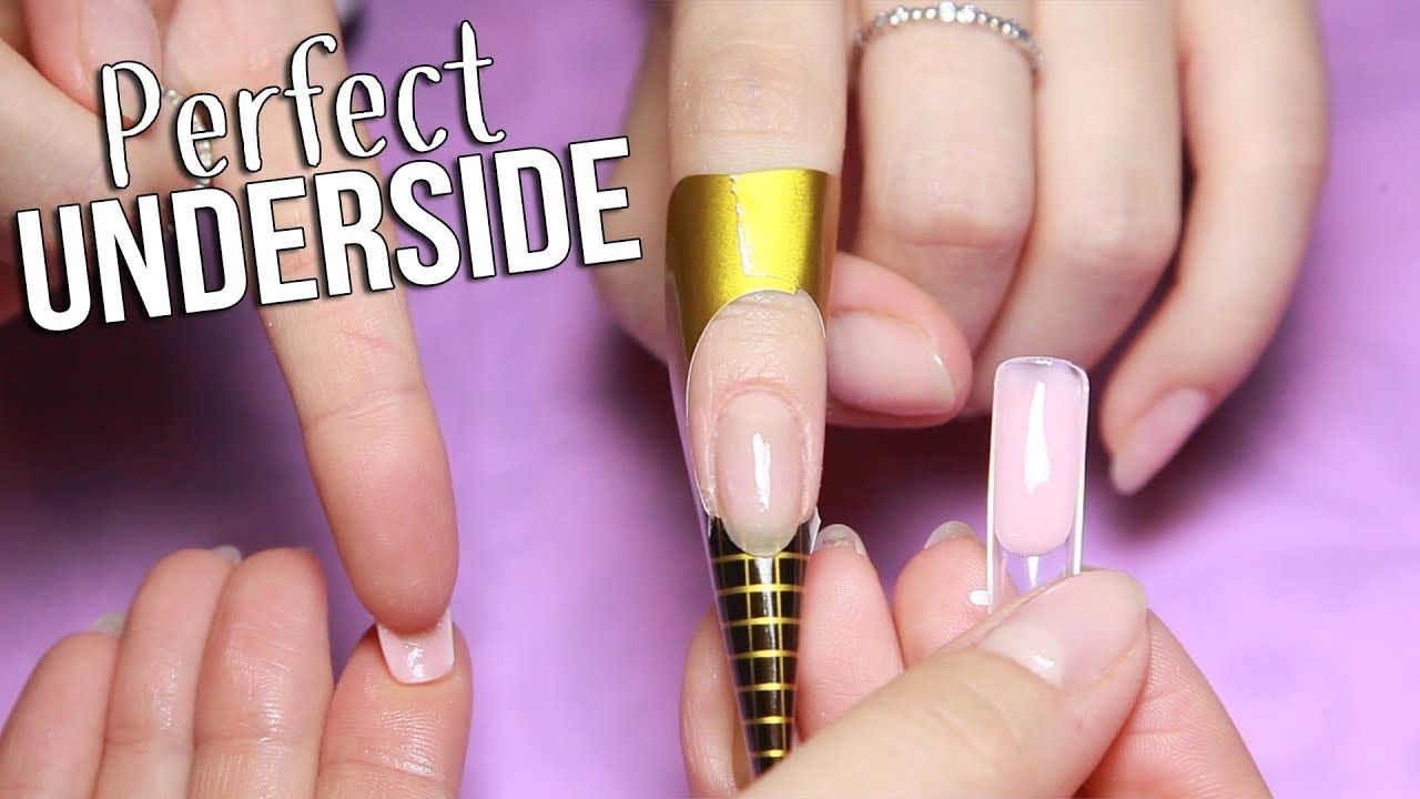 DUAL FORM HACK Perfect underside Hard gel nails, Gel