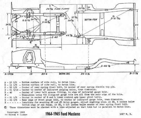 Mustang frame dimensions. | Memories | Pinterest | Mustang, Ford ...