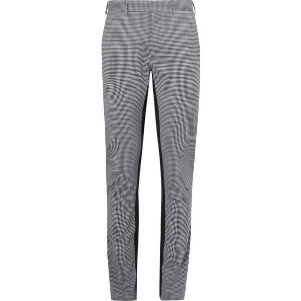 db0c4367e184 Prada Slim-Fit Checked Virgin Wool-Blend Trousers (€590) ❤ liked on ...