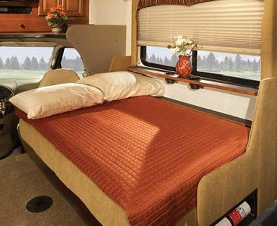 fleetwood jamboree class c motorhome interior sofa bed