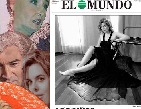 La cándida Soraya cae en la trampa de Nieves Herrero y Pedro J Ramirez, fundador del diario El Mundo y más tarde despedido del diario.