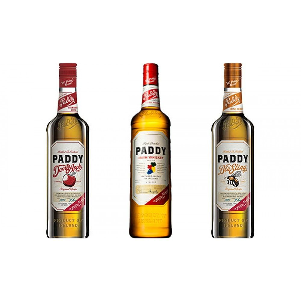 Paddy Old Irish Whiskey, Bee Sting & Devil\'s Apple - Three-Pack ...
