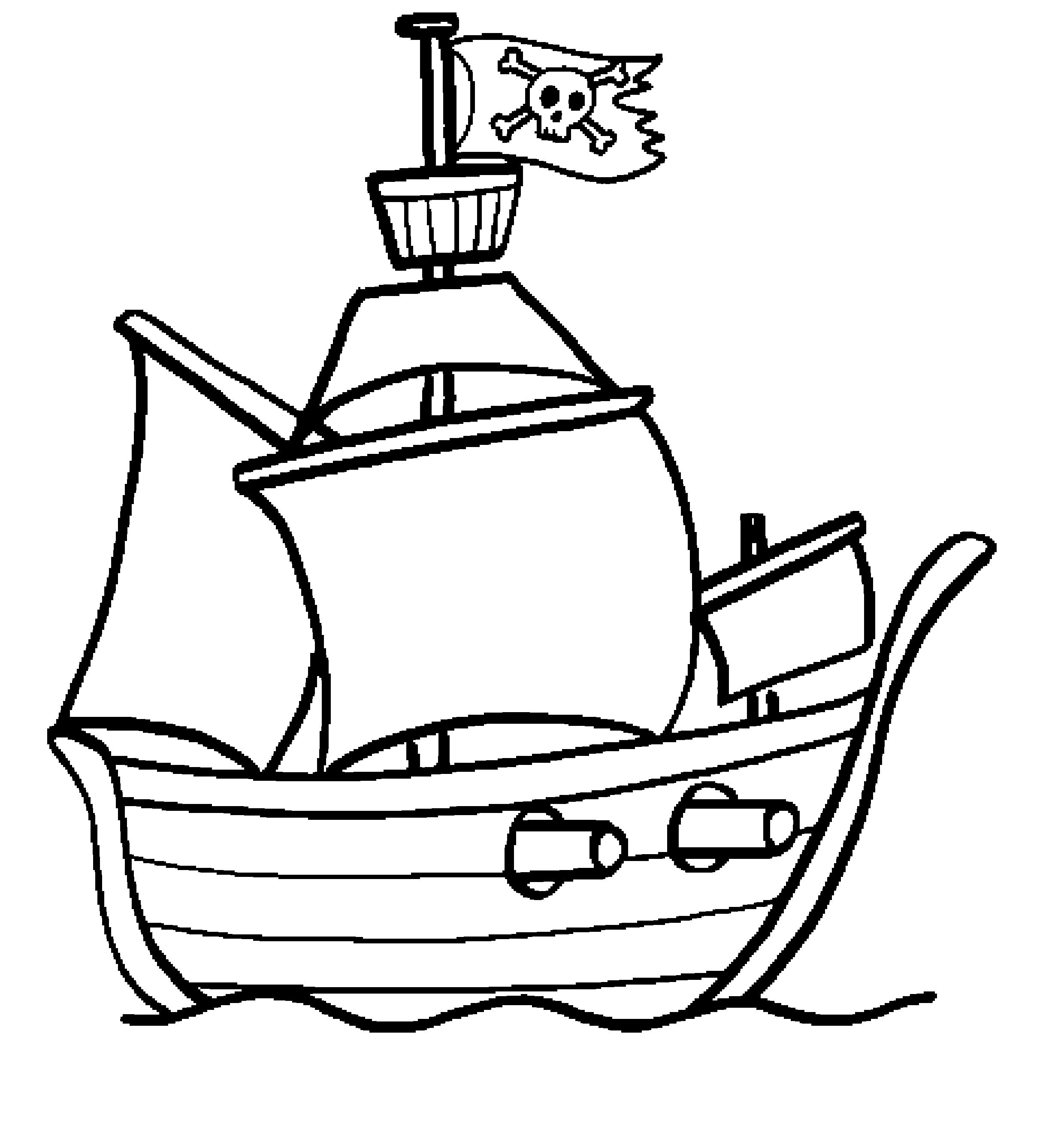 Bateau Pirate Coloriage