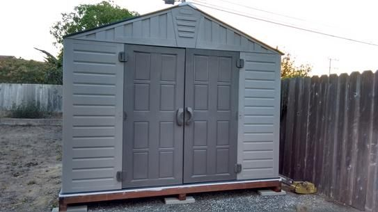 Us Leisure Keter Stronghold 10 Ft X 8 Ft Resin Storage Shed 157479 The Home Depot Shed Storage Shed Wood Shed Plans