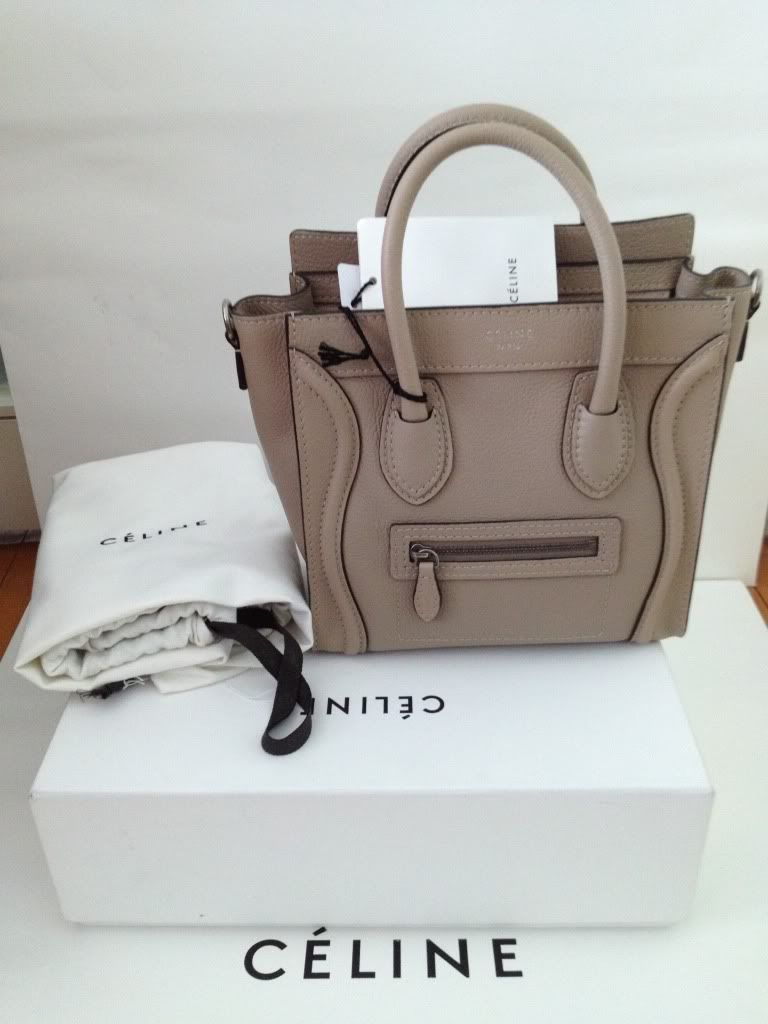 533fa4be5d Celine Nano luggage tote in dune