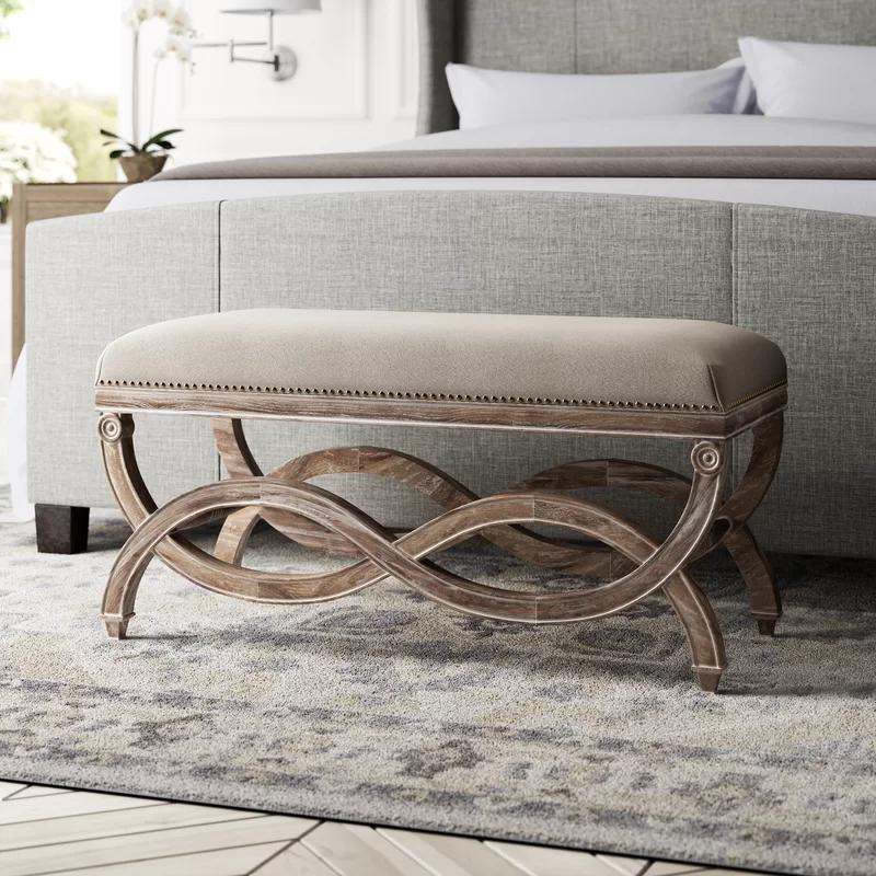 Grundy Upholstered Bedroom Bench In 2020 Upholstered Bench Bedroom Bedroom Bench Upholster