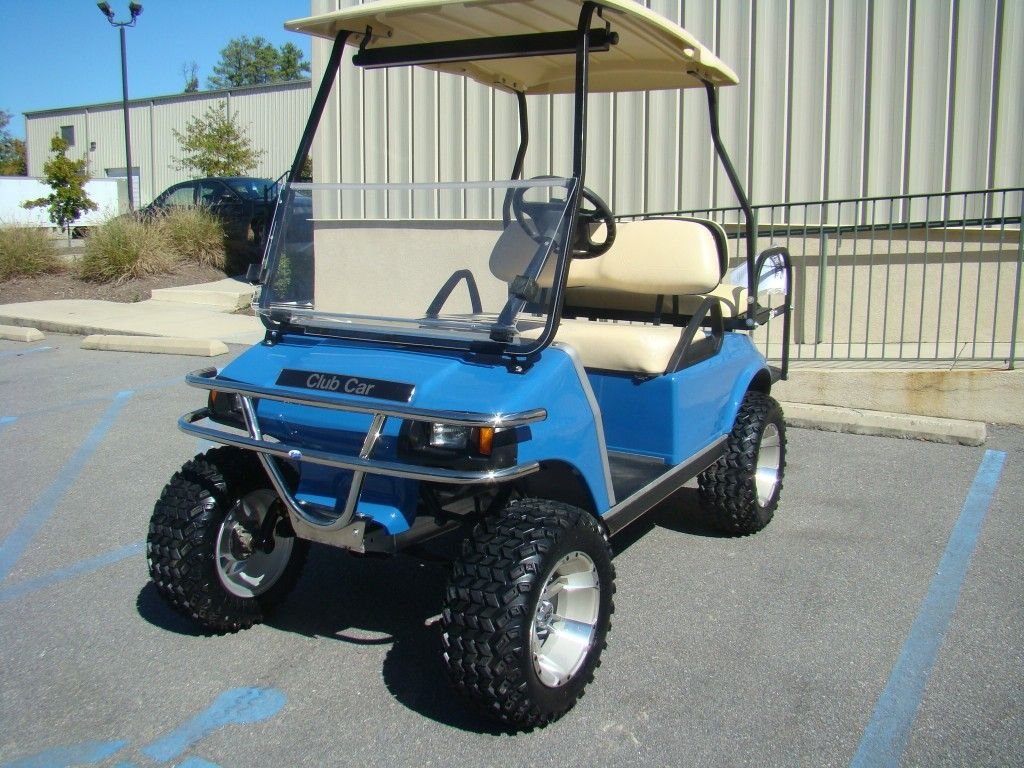 Same Model As Ours Light Blue Golf Cart Club Car Ds Golf Carts Golf Cart