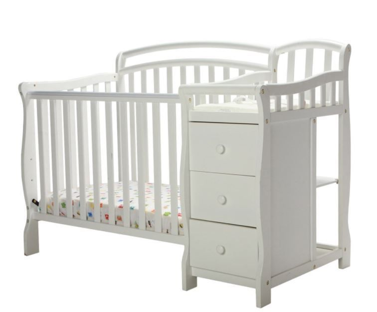 Baby Cribs With Changing Table White Mini Crib Dressing Nursery