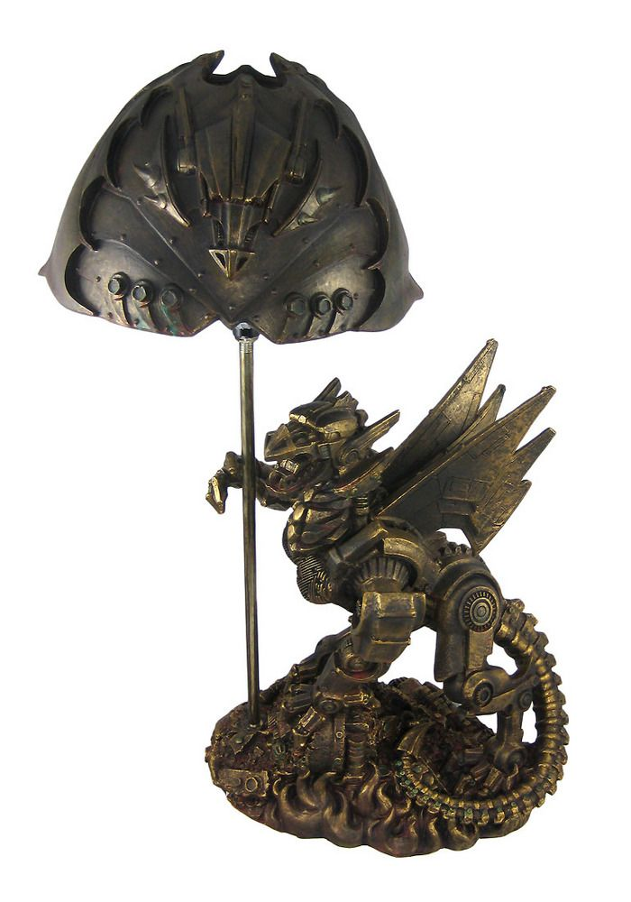steampunk dragon bronze finish table lamp industrial  http://www.things2die4.com/steampunk-dragon-bronze-finish-table-lamp-industrial-11688.html