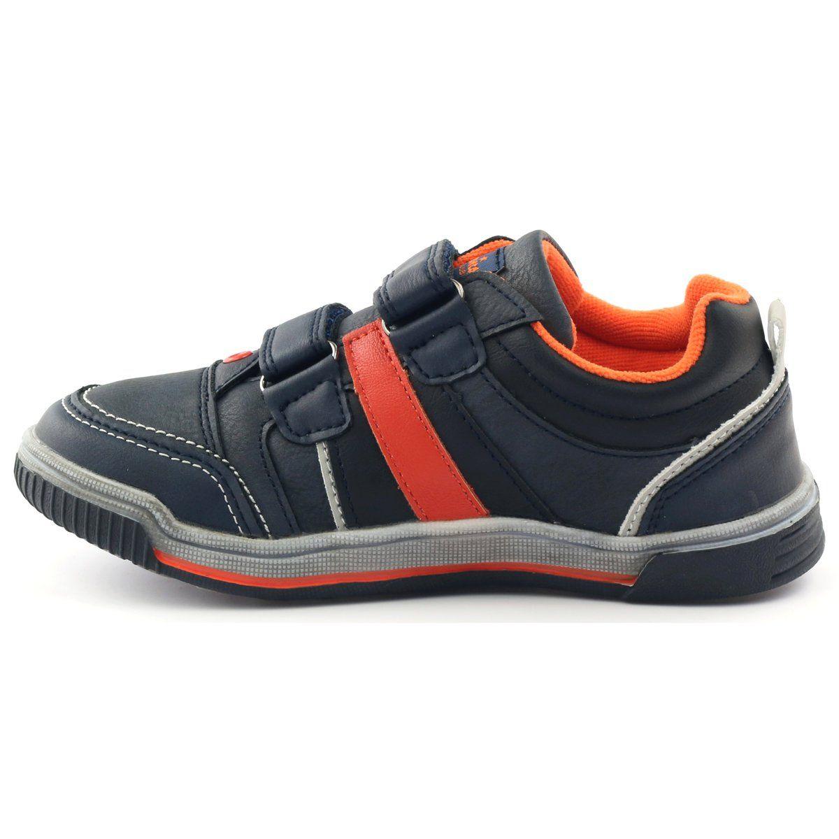 American Club Adi Buty Sportowe Trampki American 152625 Granatowe Pomaranczowe Calzado Ninos Calzas Ninos