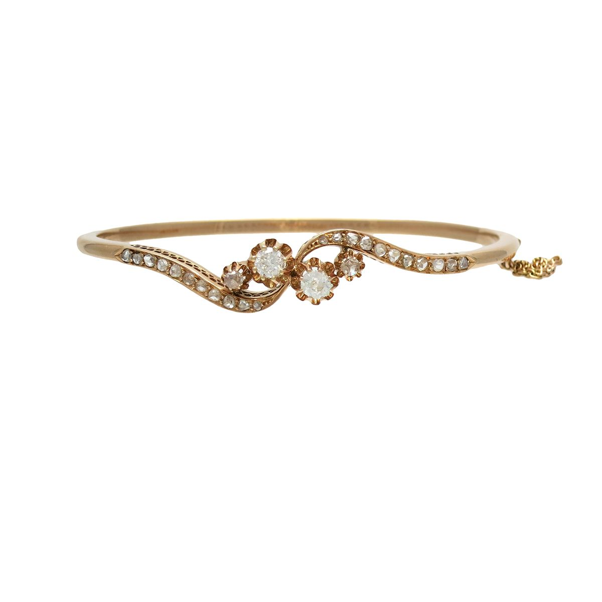 tennis products del rose progressive main bangles bracelet gold julie diamond tw com in leah ice bangle ct