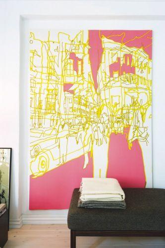 Modern Marimekko Fabric Wall Art Vignette - Wall Art Collections ...