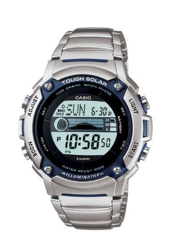 Casio Men S Ws210hd 1avcf Tough Solar Powered Tide And Moon Stainless Steel Watch For 32 99 Casio Casio Tough Solar Chronograph Watch Men