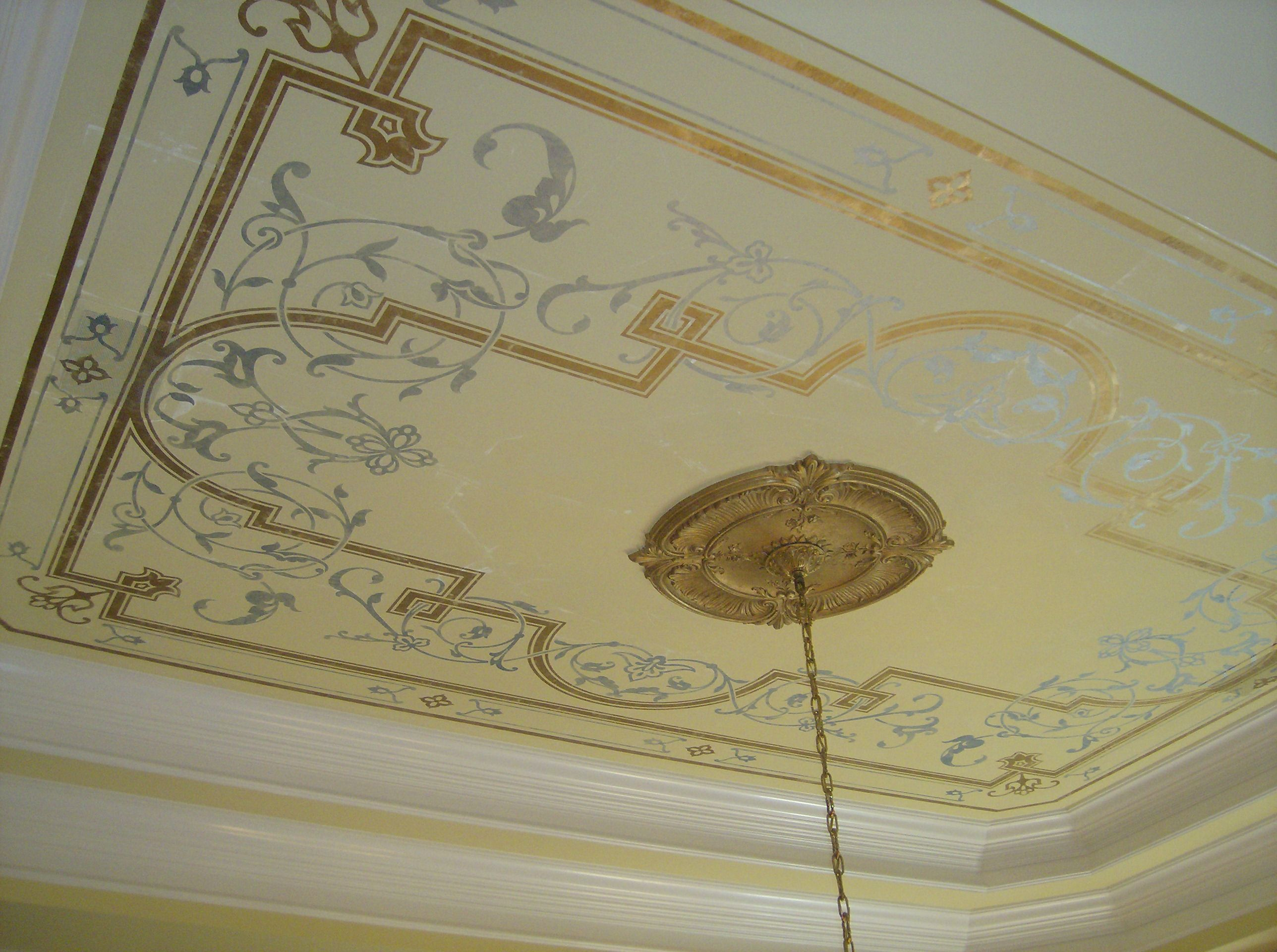 Stenciled Ceiling Decorative Painting Ceiling Decor
