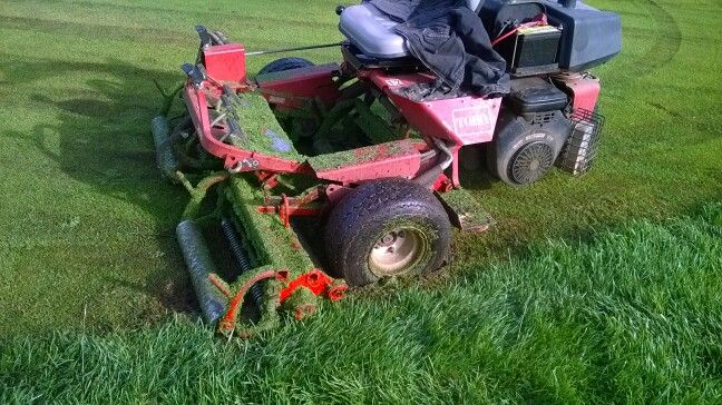 Now the green mower is a stuck mower  | Golf Course Work