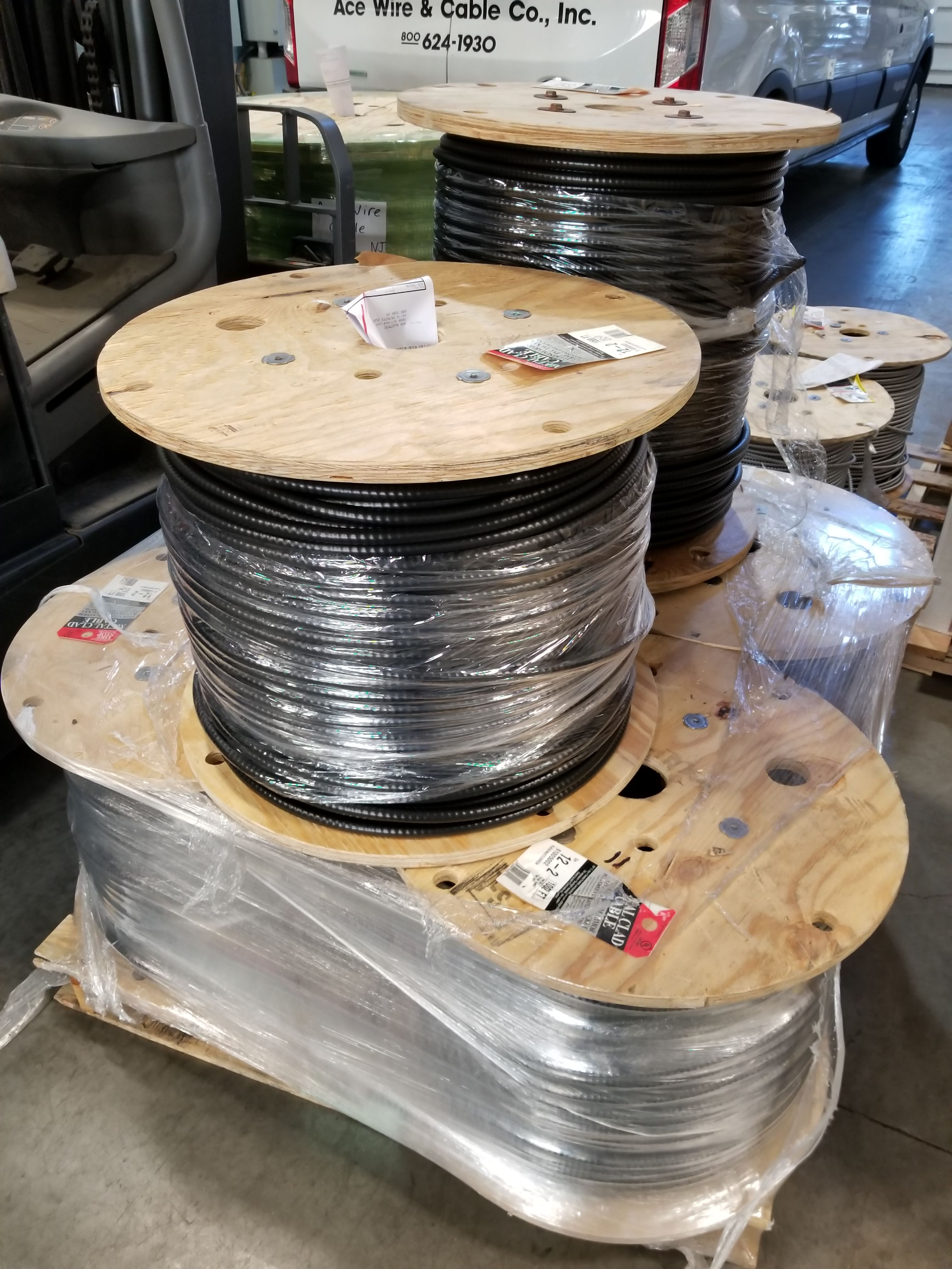 Reels of 12/2 #PVC Coated #MC #Cable ... #MCJ #AceWire #wire #copper ...