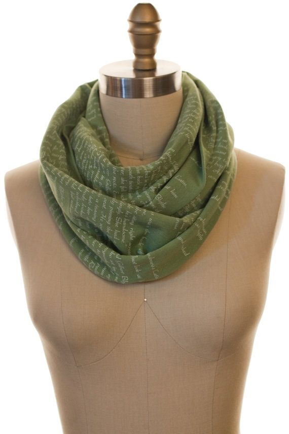 Anne of Green Gables Book Scarf - Infinity Scarf, Literary ...