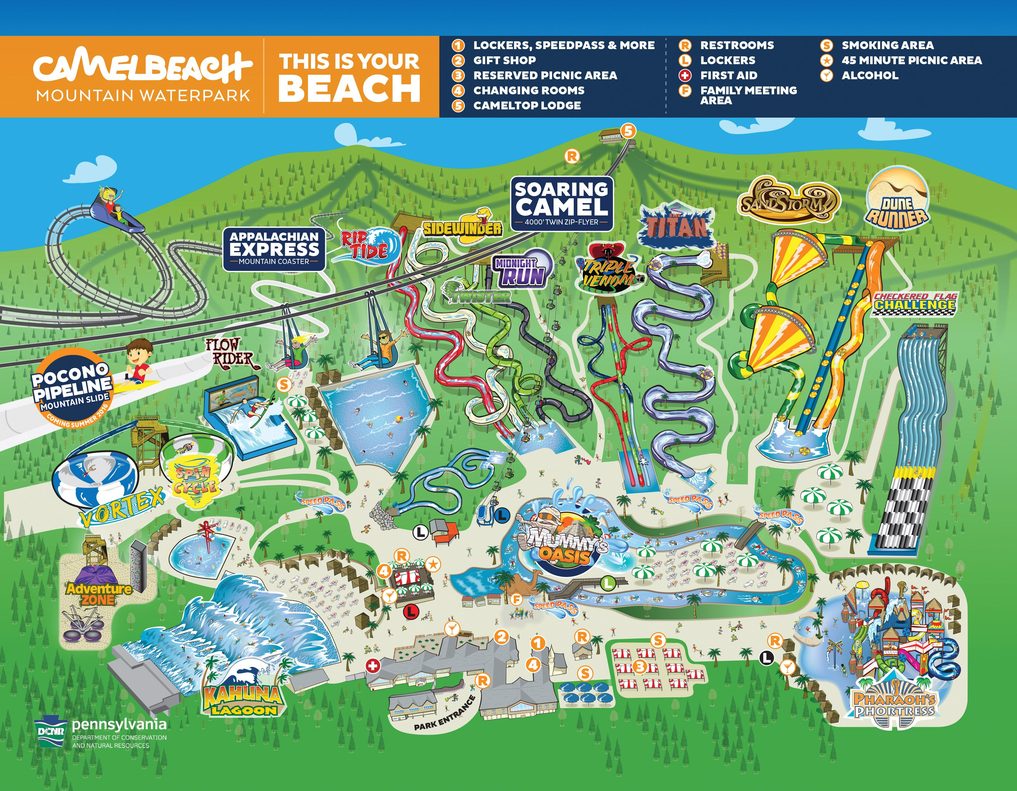 Camelbeach Waterpark Map