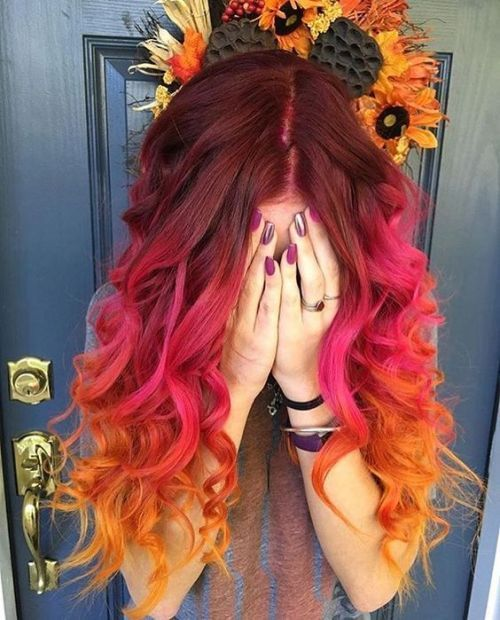Look ultra-fashionable with colored hair in a crazy way