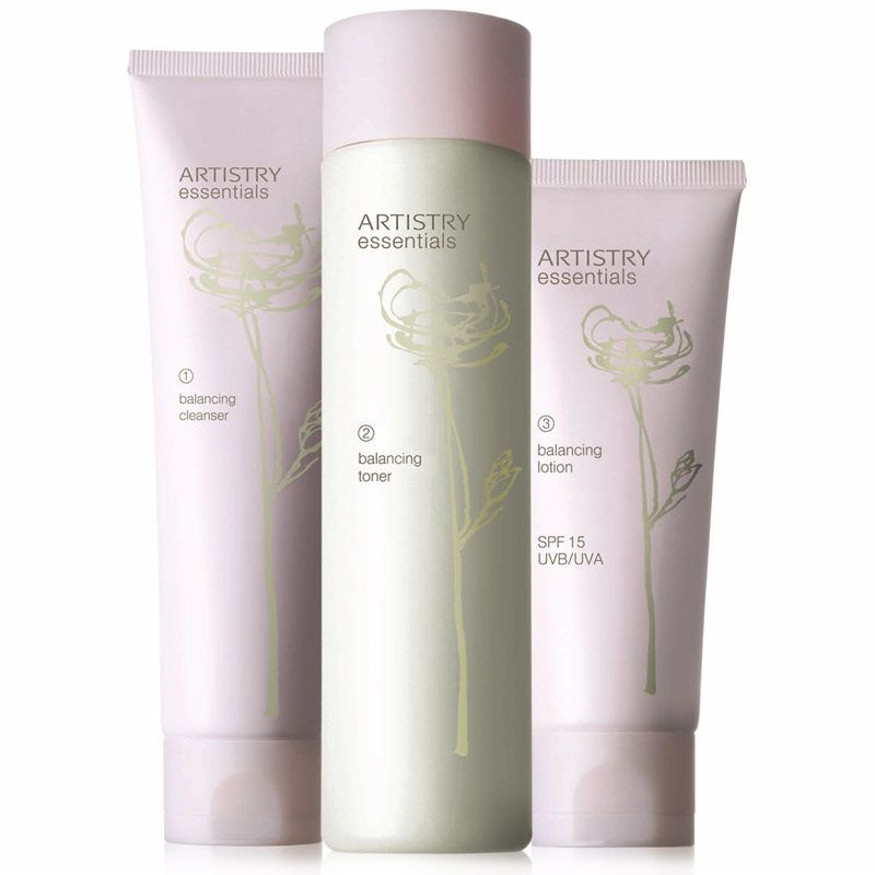 Artistry Essentials Skin Care Balancing System Set Of 3pcs With