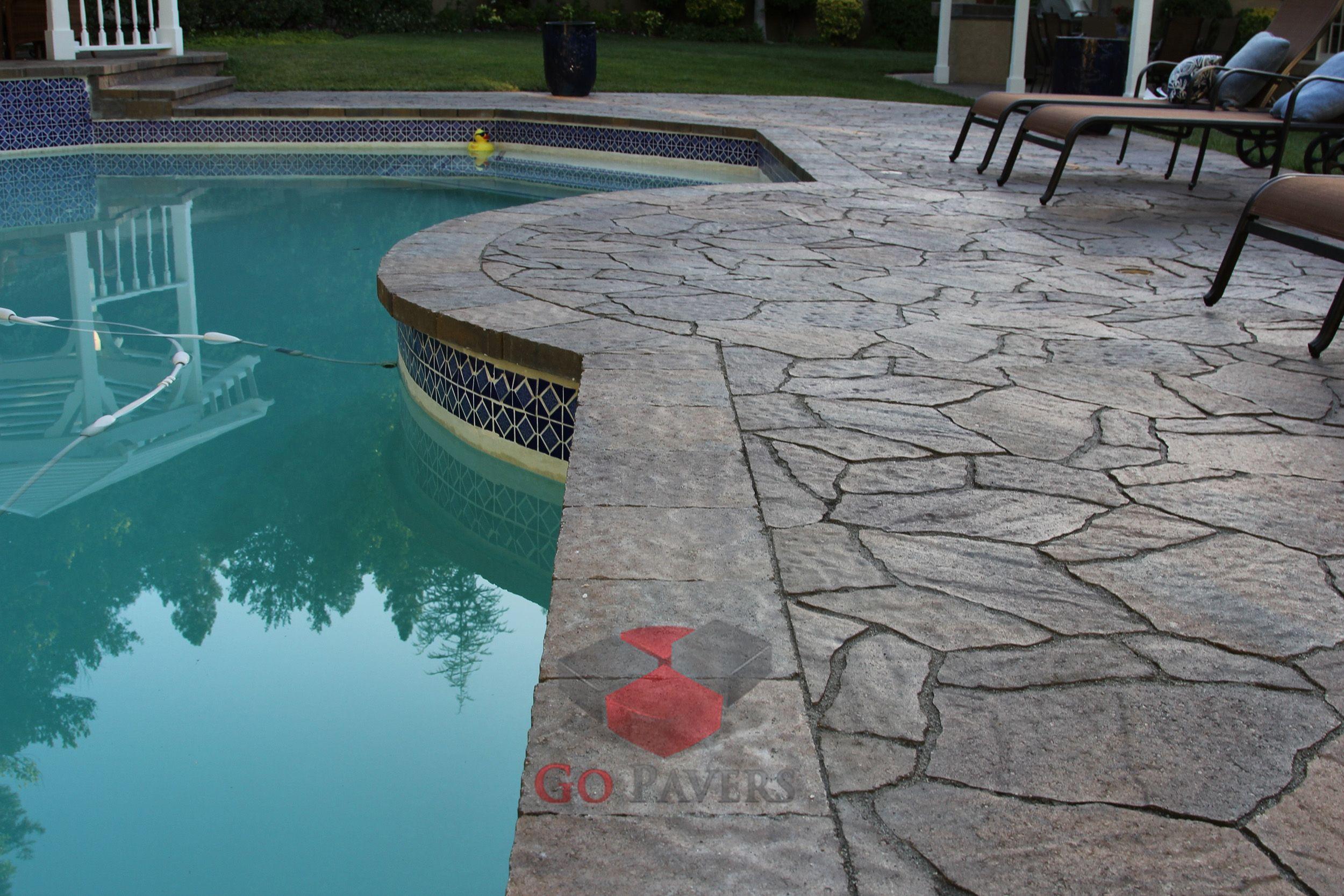 Agoura Hills U2013 Pool U2013 Belgard Arbel And Lafitt Patio Slab U2013 Toscana Color U2013  View