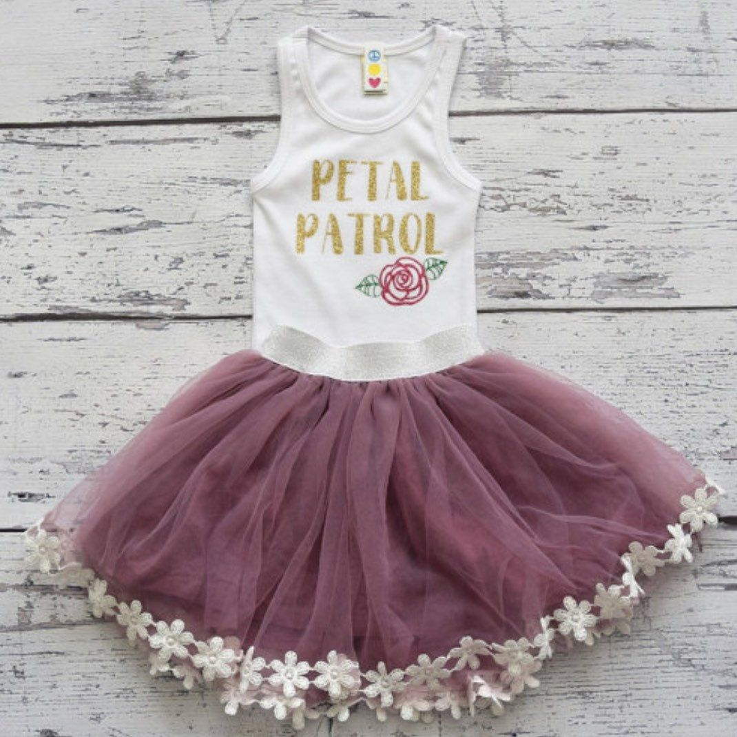 3e619cef6f8 Petal Patrol Tank Rehearsal Outfit Flower Girl by GoodLifeApparel ...