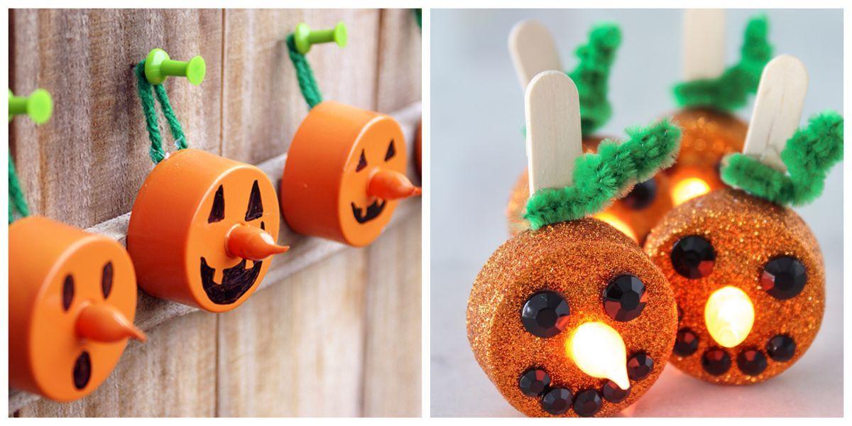 Dollar-Store Tea Lights Make the Cutest Halloween Pumpkins Ever