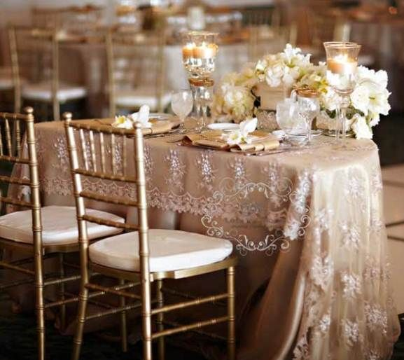 Cly Lace Tablecloths Wedding 6