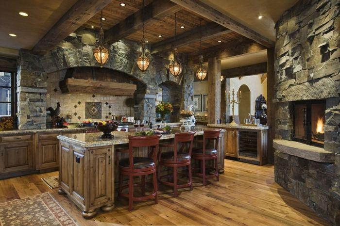 1001 designs et conseils pour la cuisine rustique - Les plus belles cuisines design ...