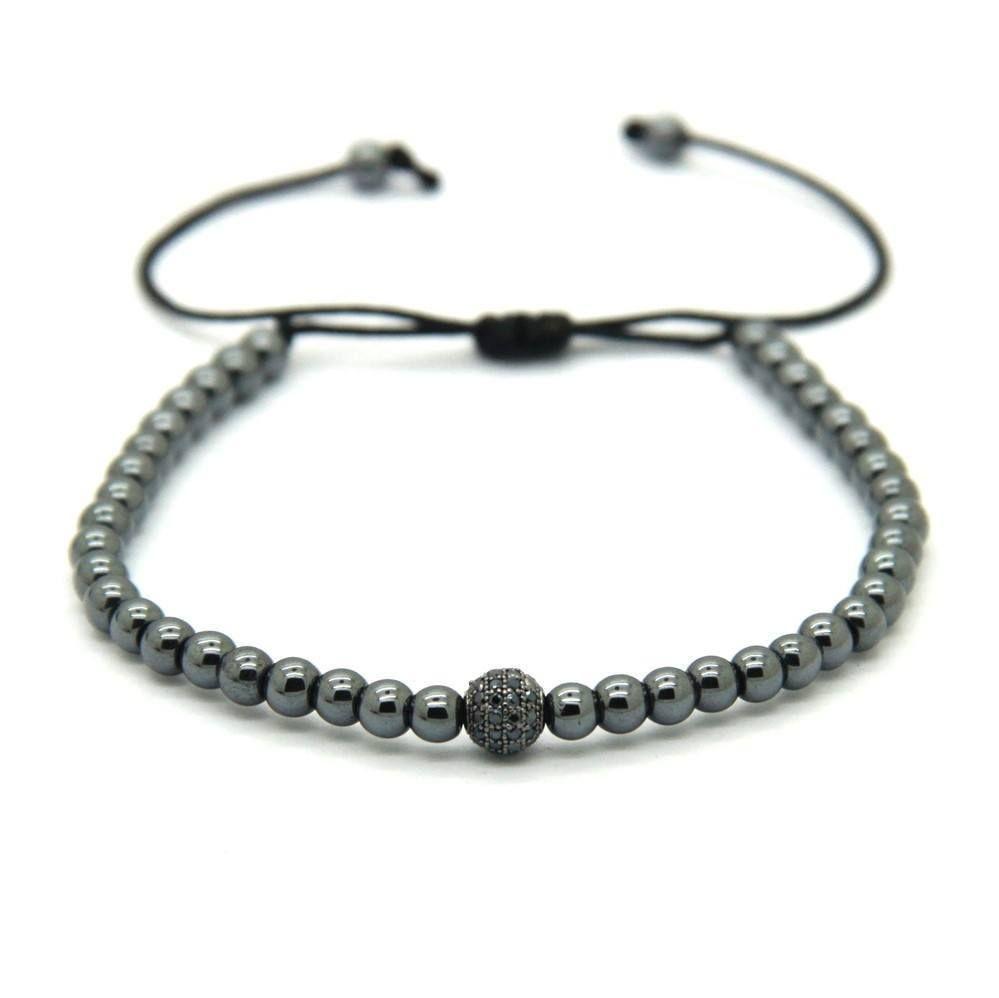 K gold plated beads diamond ball unisex bracelet variations