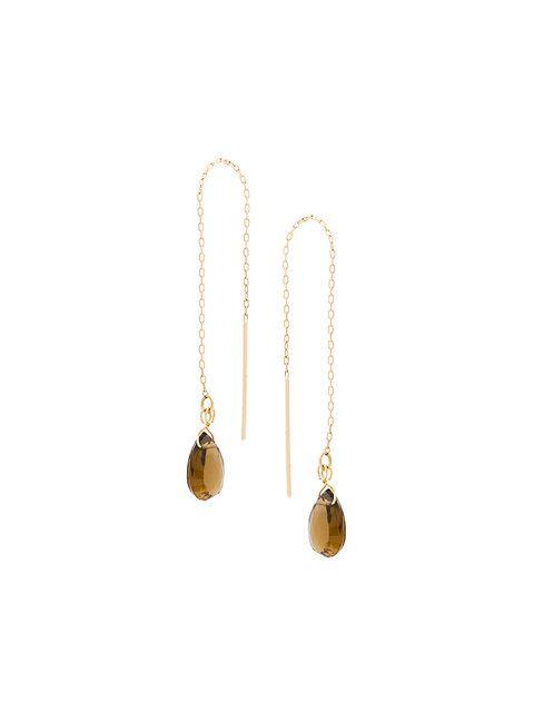 aquamarine pull-through earrings - Metallic Uzerai Edits tjRWuNUgr