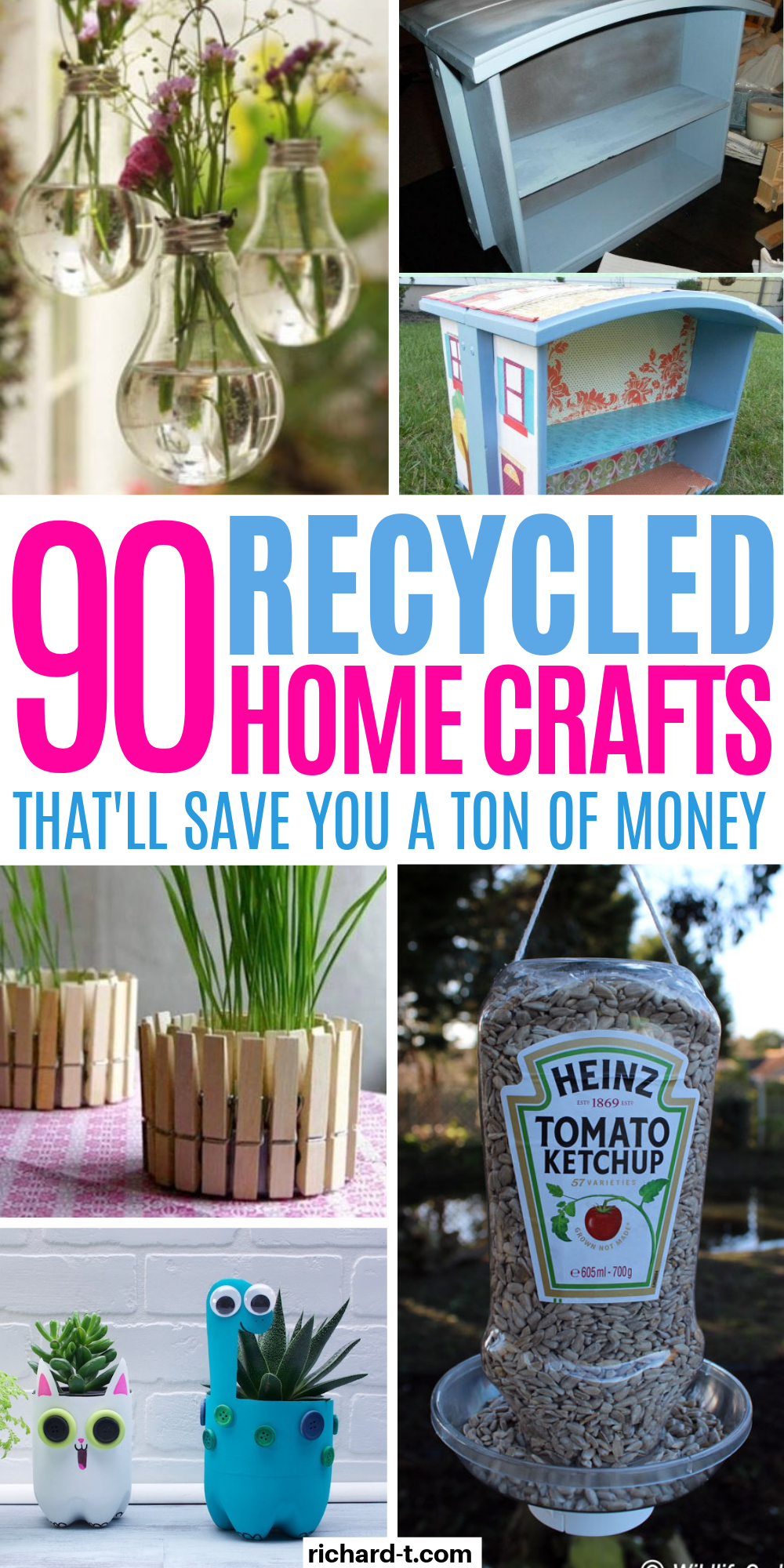 90+ Recycled Projects That'll Actually Transform Your Home - Recycle crafts diy, Recycled crafts kids, Recycled crafts kids projects, Recycled crafts, Recycling projects for kids, Recycled house - 90+ Genius recycled projects for your home! These recycled projects & crafts are genius and work really well  Make sure you try them!