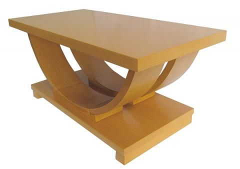 This Sharp American Art Deco Streamline Coffee Table Was Made And Retailed By The Modernage Furniture Company In New York City Largest Moderne