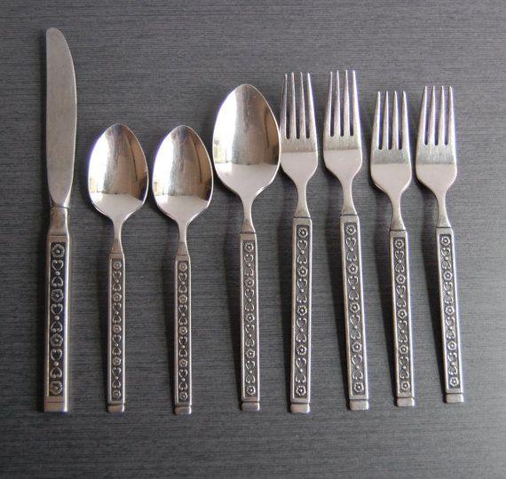 25 Pieces Gorham Biscayne Pattern Stainless Steel Flatware ... |Gorham Flatware Patterns Stainless Steel