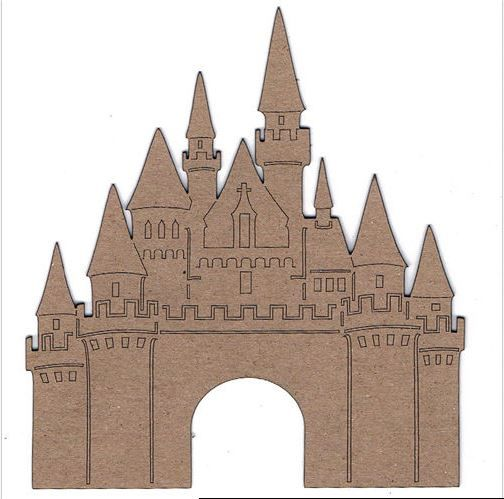 Template For Front Of Castle Disney Valentines Castle Christmas Paper Castle