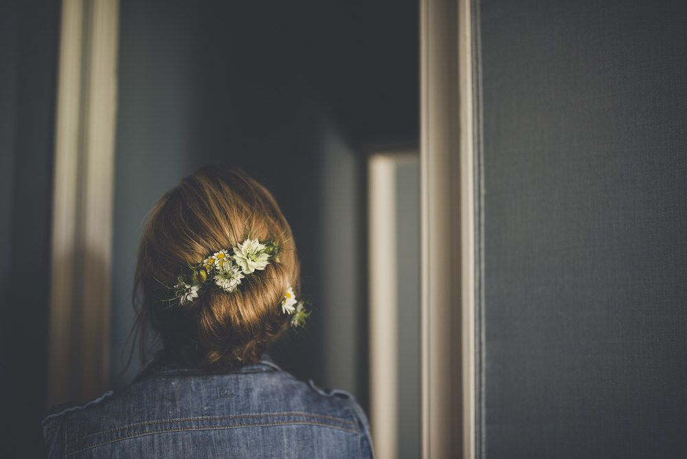 Flower Crown - Boconnoc Estate Wedding Cornwall Flowers By The Garden Gate Flower Company Dress by Temperley London And Images by Amy Shore Photography