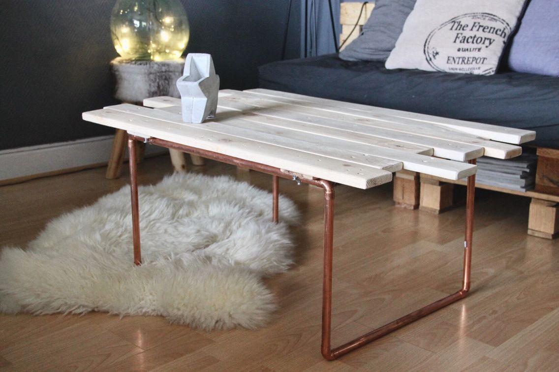 Table Basse Palette Tuyau De Cuivre Meubles Et Rangements Par