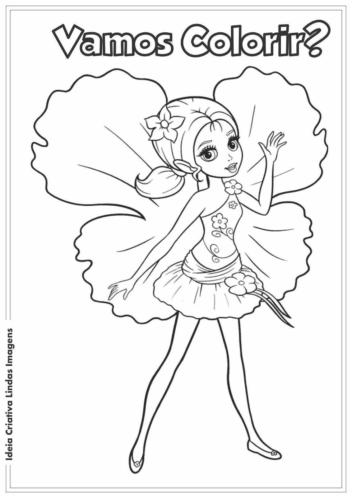 Ideia Criativa Lindas Imagens: Barbie Thumbelina desenho para ...