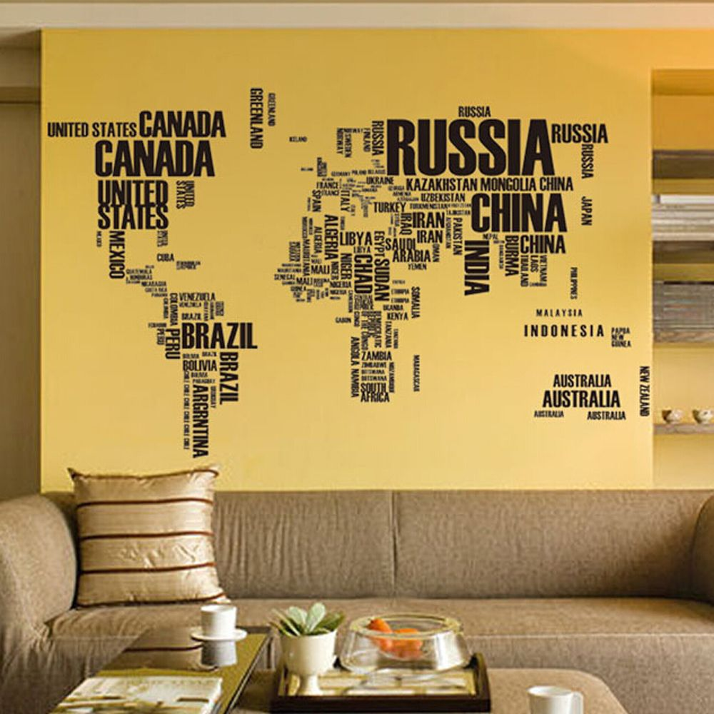 Large 3d black world map wall stickers removable wall pictures for large 3d black world map wall stickers removable wall pictures for living room paintings 3 gumiabroncs Choice Image