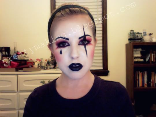 nonrealistic makeup harlequin makeup morgue pinterest makeup doll makeup and costumes. Black Bedroom Furniture Sets. Home Design Ideas