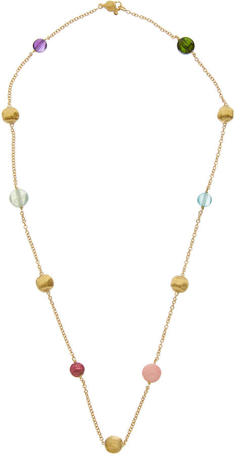 b6ffe565dd3045 Marco Bicego Africa 18K Yellow Gold Mixed Gemstone Necklace ...