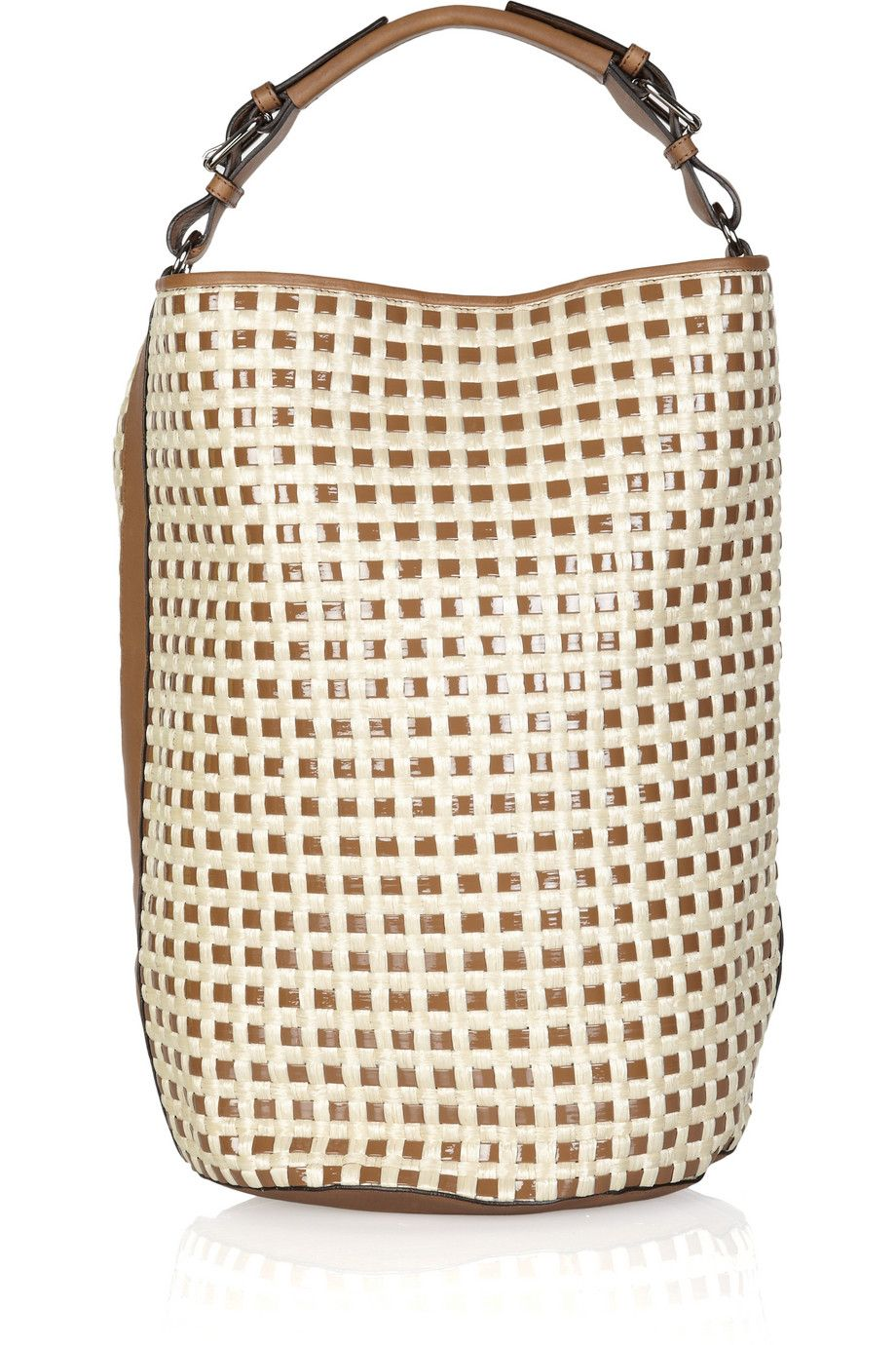 Marni Woven patent-leather and raffia shoulder bag   # Pin++ for Pinterest #