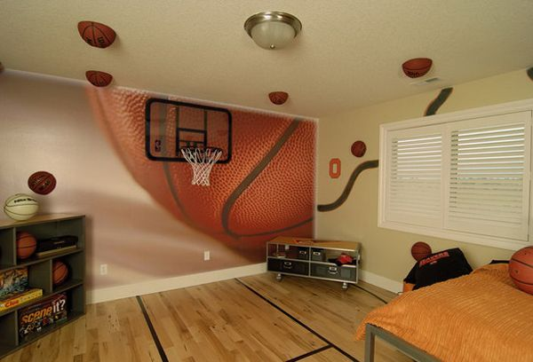 20 Sporty Bedroom Ideas With Basketball Theme Basketball Bedroom