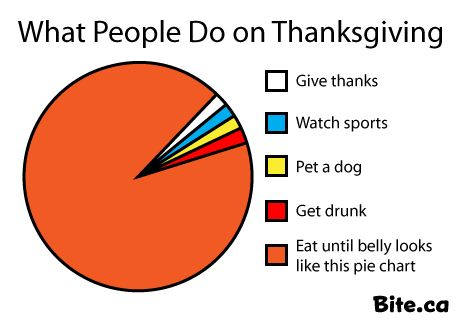 Canadian Thanksgiving Pie Chart  Funny Graphs